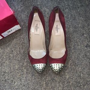 Valentino suede red pumps size 36.5